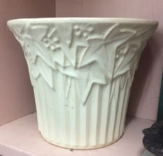 Antique Pottery, Mccoy Pottery, Ceramic Pottery, Pottery Art, Granny Chic, Vintage Planters, Plant Pots, Mixing Bowls, Pure White
