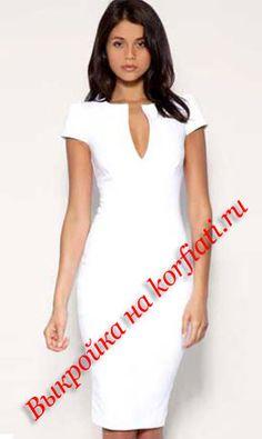 Free pattern - Выкройка платья бесплатно от ШКОЛА ШИТЬЯ Анастасии Корфиати