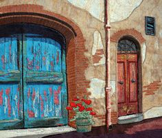 """""""Doorsteps"""" (Tuscany Collection) by Kate Bridger of Nelson BC Canada - Amazing!"""