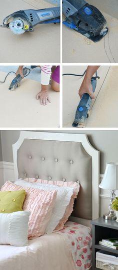 DIY Tufted Headboard - Decor Ideas for Girls Room - Click for Tutorial