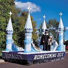 Homecoming Float Decorations | Andersonu0027s & Making the megaphone float | Cheerleading ideas | Pinterest | Cheer ...