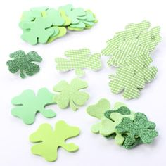 Assorted Shamrock Foam Stickers