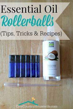 Essential Oil Rollerball Recipes