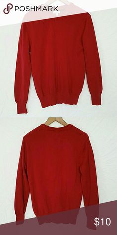 Men Red Sweater @tea_n_yoga at Poshmark   Boy/Men Red Sweater Cherokee Sweaters V-Neck