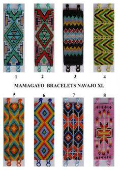 native design bracelets, loom beadwork patterns
