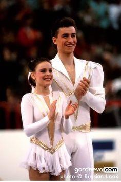 1989 World Championships, Paris, Katia Gordeeva & Sergei Grinkov