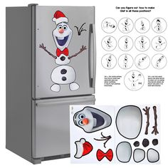 Large 32' Christmas Decoration Snowman Magnet Creative Set. Animated Figure. House Decorations Kitchen Fridge, Metal Door, Garage, Classroom, Office, You Like Elf on The Shelf You'll Love This. * Don't get left behind, see this great product : Garden cart