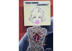 Being Normal Is Boring - Marilyn Monroe Painted Wooden Signs, Hand Painted, Wooden Signs With Quotes, Normal Is Boring, Marilyn Monroe, Cinema, Cover, Art, Art Background