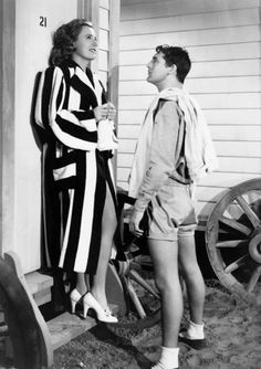 """Irene Dunne and Cary Grant in """"Penny Seranade"""" (1941)"""