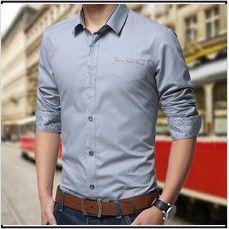 1dc0fae39190 Hot new fashion men s long-sleeved shirt Slim Mens Shirt