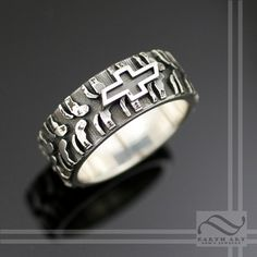 Mens Plain Chevy Tire Tread Ring Sterling Silver By Mooredesign13