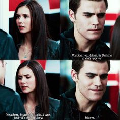 """""""{Stelena Week Day 1} Stelena: First Meeting - IM SO SORRY FOR NOT POSTING THIS YESTERDAY! I'll post the Day 2 next.  - Btw.. Sorry this kinda ruins my…"""""""