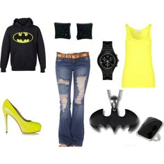 Batman.......love this as Halloween outfit, not dressing up but still in the spirit