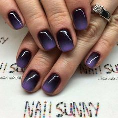 In search for some nail styles and ideas for your nails? Listed here is our list of must-try coffin acrylic nails for stylish women. Stylish Nails, Trendy Nails, Fancy Nails, Cute Nails, Purple Ombre Nails, Black And Purple Nails, Purple Haze, Sns Nails, Acrylic Nails