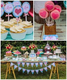 Mother's Day Afternoon Tea Party Dessert Table with Such Gorgeous Ideas via Kara's party ideas! full of decorating ideas, dessert, cake, cup. Dessert Party, Tea Party Desserts, Tea Party Theme, Dessert Table, Mother's Day Afternoon Tea, Afternoon Tea Parties, Mothers Day Desserts, Mothers Day Decor, Party Planning