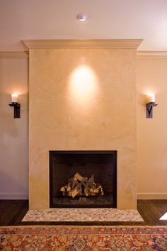 plaster fireplace designs | distressed lime plaster with marsi ...