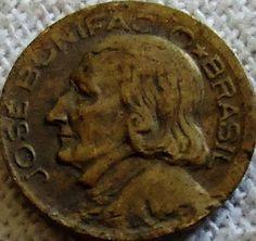 moedas brasileiras antigas 10 centavos - 1948 no verso José Bonifácio