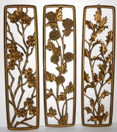Vintage Wall Decor Syroco Four Seasons Gold By Thebackshak