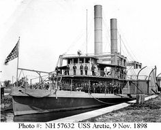 During the Spanish-American War, this Philadelphia city iceboat served briefly in the Delaware River area as a U.S. Navy refrigerator ship. Description from ibiblio.org. I searched for this on bing.com/images
