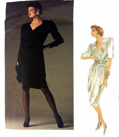 Vintage Vogue Paris Original Emanuel Ungaro Dress Sewing Pattern 80s Size 10  #VoguePatterns