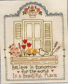 Stitchery pattern by Bronwyn Hayes @ Red Brolly. Hand Embroidery Patterns, Vintage Embroidery, Embroidery Applique, Cross Stitch Embroidery, Machine Embroidery, Embroidery Designs, Paper Embroidery, Red Brolly, Sewing Crafts