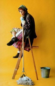 Carol Burnett in a classic pose as The Cleaning Lady -- thanks to Valerie Wilson and Kat Candler.