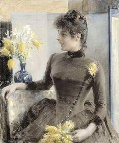 A Portrait of Madame Vallery Radot,  Albert Edelfelt (1854-1905)