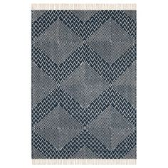 afbeelding Plat geweven tapijt in wol met kilim motief, Ottilie AM.PM.