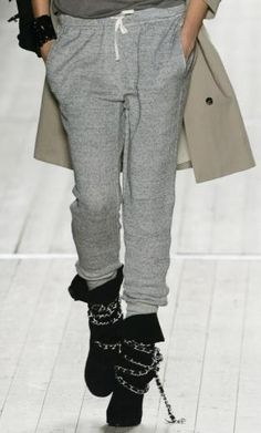 Isabel Marant grey sweat pants, & boots