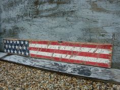 Rustic Distressed American Flag USA Star Liberty Wood Sign 4 ft 4th of July on Etsy, $114.99