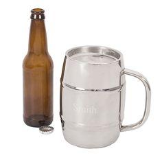XL Beer Keg Mug with Engraving