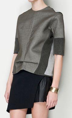 Balenciaga Gray Top