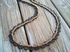 DIY Lace and Chain necklace