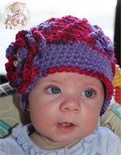 Vintage Swirl Crochet Baby Hat Purple Red Hat by SweetnessInSmyrna, $24.99