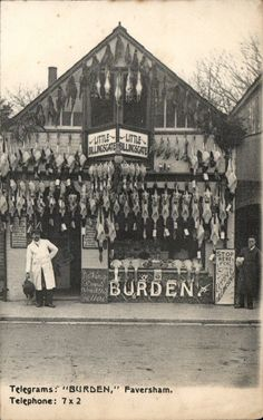 Faversham. Burden, Butcher's Shop Front by G. W. Lane, Preston St., Faversham. | eBay