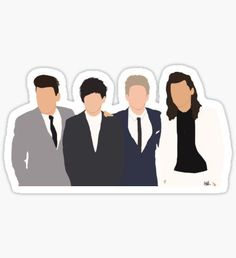 Arte One Direction, One Direction Drawings, One Direction Wallpaper, One Direction Humor, One Direction Pictures, Tumblr Stickers, Cool Stickers, Laptop Stickers, One Directin