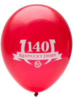 "These Kentucky Derby 140 Logo Balloons are the perfect decoration for your Derby Party! Pack includes 10 red balloons, each balloon inflates to 11"". #KyDerby"