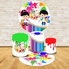 Art Birthday Cake, Baby Birthday, Color Pencil Picture, Arte Do Hulk, Art Party Cakes, Ideas Decoracion Cumpleaños, Emotions Preschool, Colored Pencils, Playroom