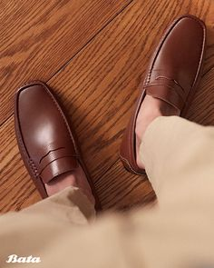 Slip-on loafers are equally chic and laid-back - a perfect combo for the festive holiday season. Bata Shoes, Men's Shoes, Dress Shoes, Kinds Of Shoes, Holiday Festival, Shoe Collection, Moccasins, Loafers Men, Festive