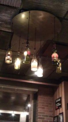 Wine bottle light fixture