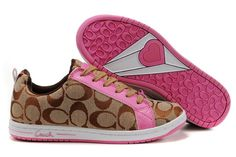 Pink Coach sneakers - these are CUTE! Coach Sneakers, Coach Shoes, Coach Bags, Coach Purse, Coach Handbags, Shoes Sneakers, Women's Shoes, Cute Shoes, Me Too Shoes