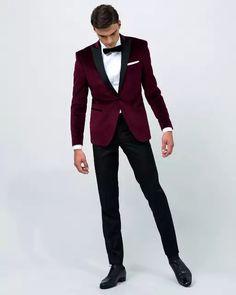 2017 airtailors terciopelo rojo vino pico solapa Smoking traje de boda para  hombres novio 4e5e66d6388