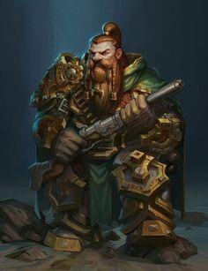 dwarf by ZhangQipeng on DeviantArt Fantasy Dwarf, Fantasy Rpg, Fantasy World, Fantasy Artwork, Character Concept, Character Art, Concept Art, Character Design, Medieval