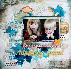 DT layout for 1-2-3 Get Scrappy December challenge #Scrapbooking #123GetScrappy