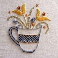 Wonderful Ribbon Embroidery Flowers by Hand Ideas. Enchanting Ribbon Embroidery Flowers by Hand Ideas. Hardanger Embroidery, Learn Embroidery, Hand Embroidery Stitches, Embroidery Needles, Silk Ribbon Embroidery, Hand Embroidery Designs, Embroidery Techniques, Embroidery Patterns, Machine Embroidery