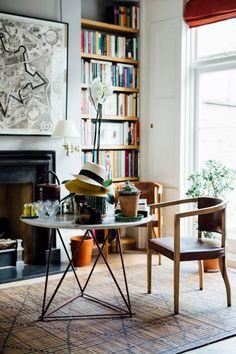 Artist Sarah Graham's London Home and Studio | House & Garden Sarah Graham, Exotic Plants, London, Beautiful Architecture, Sitting Area, Interior Inspiration, Bookshelves, Home And Garden, Interior Design