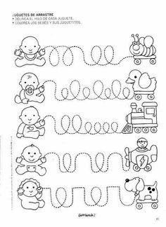 little things for school! Tracing Worksheets, Preschool Learning, Kindergarten Worksheets, Educational Activities, Preschool Activities, Teaching Kids, Pre Writing, Kids Writing, Writing Skills