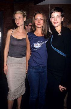 """90sclubkid: """" Gywenth Paltrow, Kate Moss, and Liv Tyler (1998) """""""