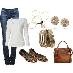 Simply casual..., created by krispardue on Polyvore