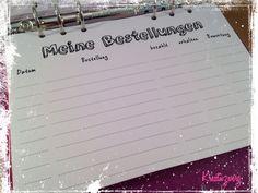 DIN A5 - 60 x Bestellungen A5 Filofax 120g Papier Liste - ein Designerstück von kreativzwerg-shop bei DaWanda